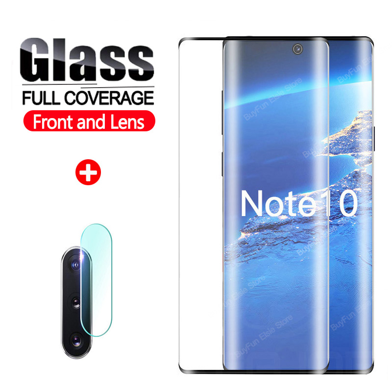 For Samsung Note 10 Full Glue Tempered Glass Screen Protector Film For Galaxy Note 10 Pro S10 Plus S10e Protective Glass Film