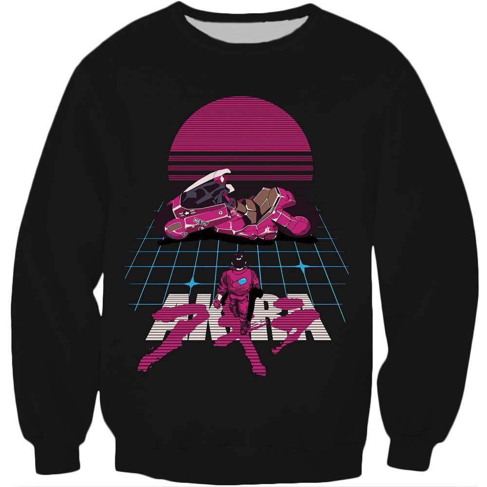 Drop shipping Akira Kaneda Neo Tokyo Anime Printed Crewneck Sweatshirt 2020 Hot sale Harajuku Fashion Men Long Sleeve Pullover 6