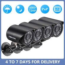 OWSOO caméra de vidéosurveillance 720P IR CUT, 4 pièces pour lextérieur, système de sécurité IP, Kit de vidéosurveillance, vision nocturne pour la maison