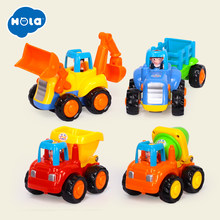Friction Powered Cars, Push & Go Toy Trucks Construction Vehicles Toys Set for 1-3 Year Old Baby Toddlers Children Boys Gifts(China)