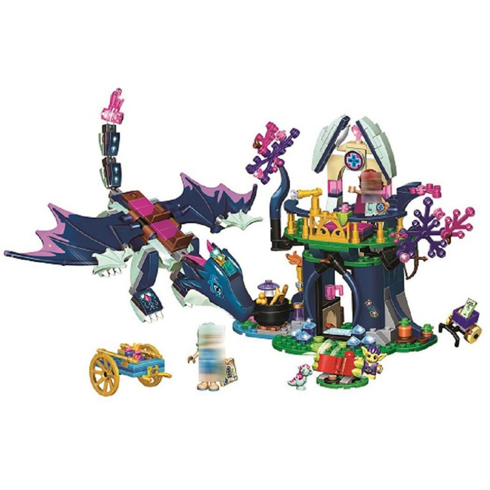 <font><b>10697</b></font> Elves Rosalyn's Healing Hideout Building Blocks Bricks Compatible with Lepining Friends 41187 for Girls Gift Toys Model image