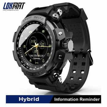 Reloj inteligente LOKMAT, podómetro deportivo Bluetooth de 50M, resistente al agua Recordatorio de información, reloj inteligente Digital para hombres para Ios y Android