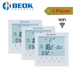 3 Pieces White Backlight Wifi Gas Boiler Heating Temperature Regulators Smart Phone Control Thermostat with Kid Lock