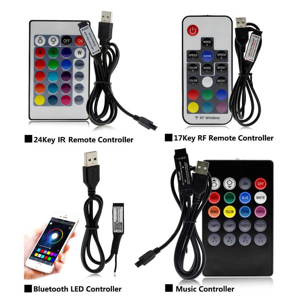 Светодиодная лента с USB 5050 RGB сменная светодиодная фоновая подсветка для телевизора 50 см 1 м 2 м 3 м 4 м 5 м гибкая светодиодная лампа DIY.