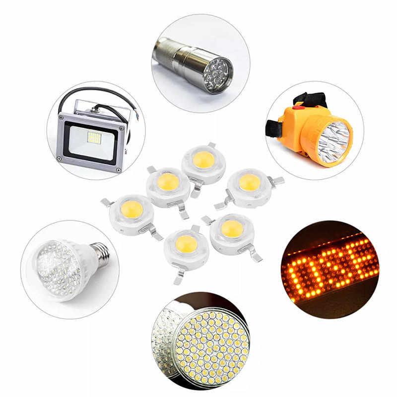 10/100/1000 шт реальный полный Вт CREE 1 Вт 3 Вт высокой мощности Мощность светодиодный лампочек SMD 110-120LM светодиодный чип для DIY светильник Светодиодный прожектор лампы