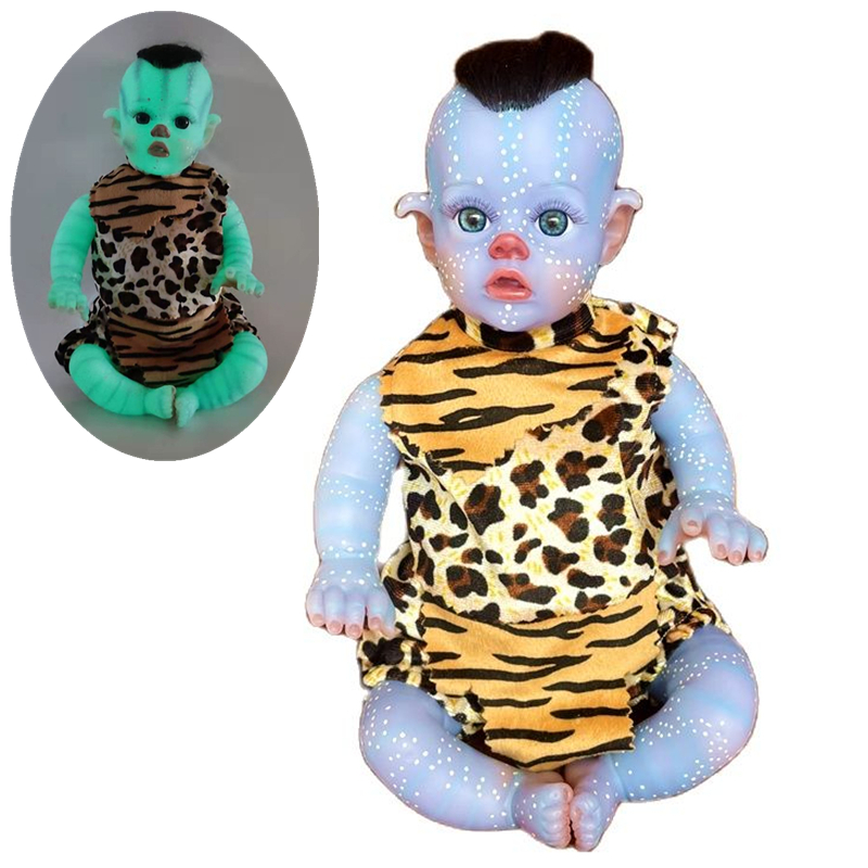 30cm 11 Inch Reborn Avatar Baby Leucht Entzückende Simulation Puppen Silikon Mini Lebensechte Spielzeug Kinder Spielzeug Weihnachten Geburtstag Geschenke