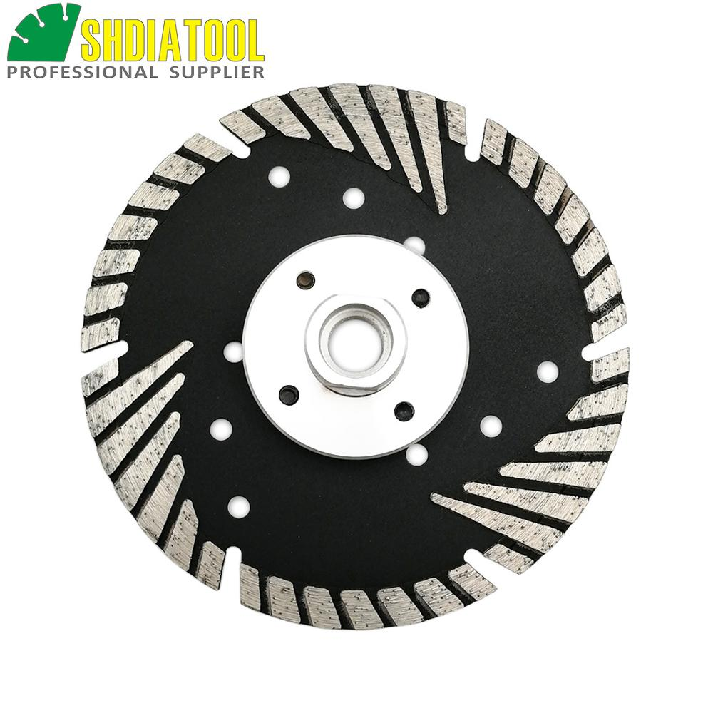 "Image 2 - SHDIATOOL M14 FLANGE Dia5""/125MM Diamond saw Blade cutting discs Deep teeth protect the core for granite marble masonry concrete-in Saw Blades from Tools"