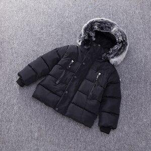 Image 3 - 春キッズボーイズ & ガールズダウンコート冬ジャケット暖かい子供厚みプラス入りのジャケットフード付き上着衣装