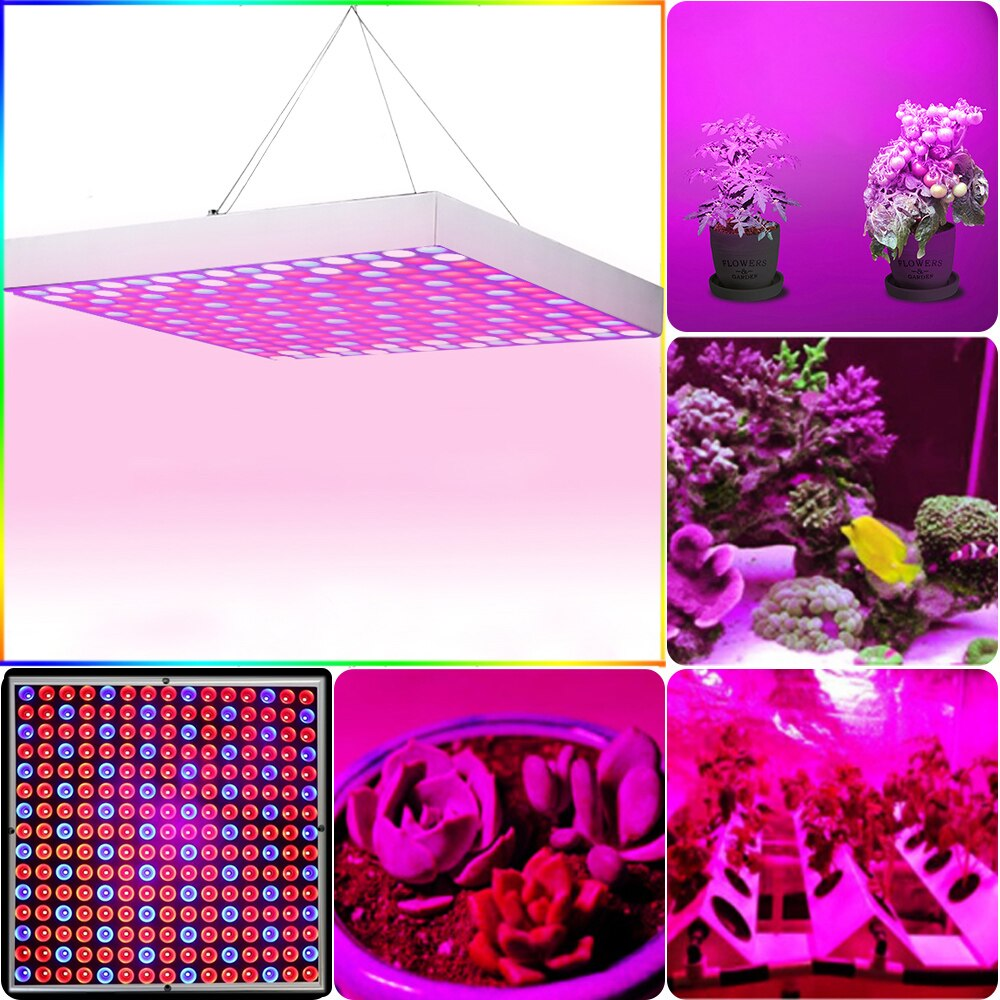 Growing Lamps Plants Flowers Seedling Vegetables Cultivation Greenhouse High Yield Panel Plant Light LED Grow Lights 45W 225LED