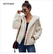 Autumn Winter Coat Women 2019 Fashion Vintage Slim Double Breasted Jackets Female Elegant Long Warm White Coat casaco feminino 95