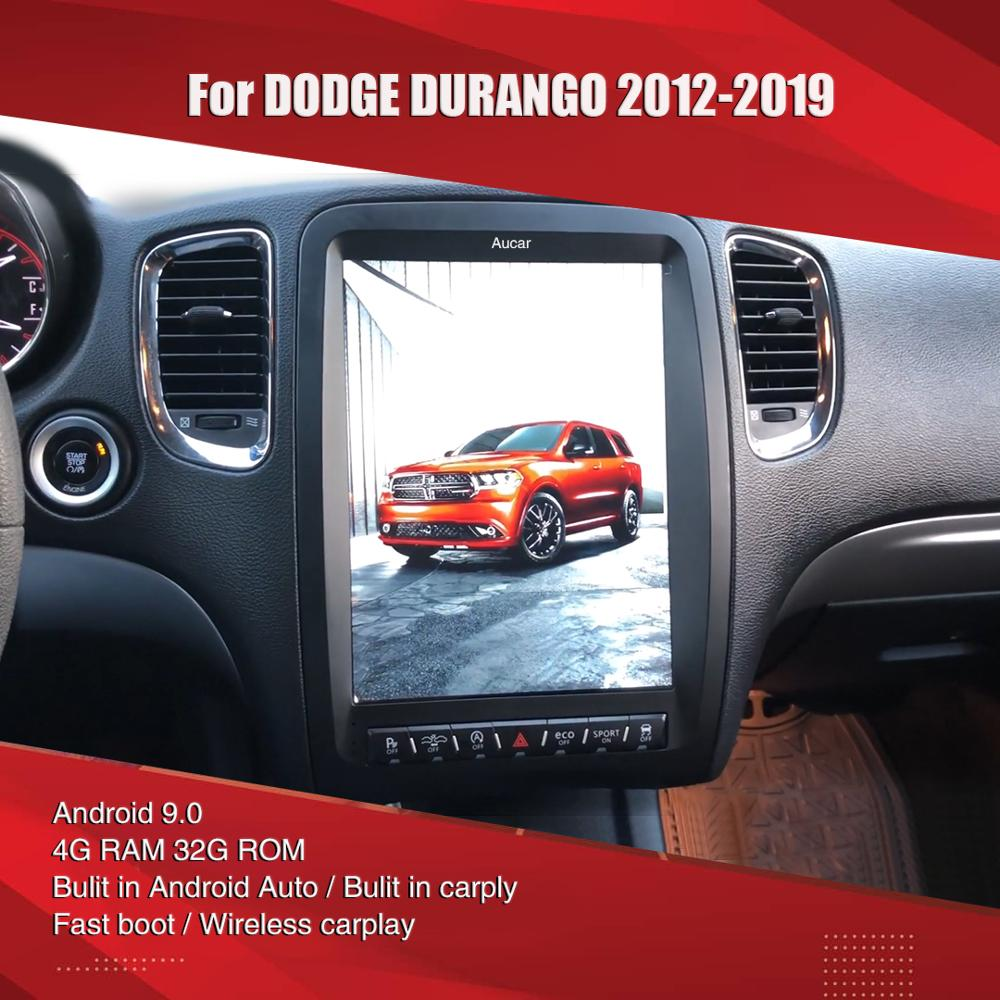 Автомагнитола Aucar Tesla style для Dodge Durango, Android, мультимедийное радио для Dodge Durango, GPS-навигация, стерео головное устройство 2 din