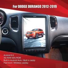 Aucar tesla estilo para dodge durango android multimídia rádio do carro para dodge durango gps navegação estéreo 2 din unidade central