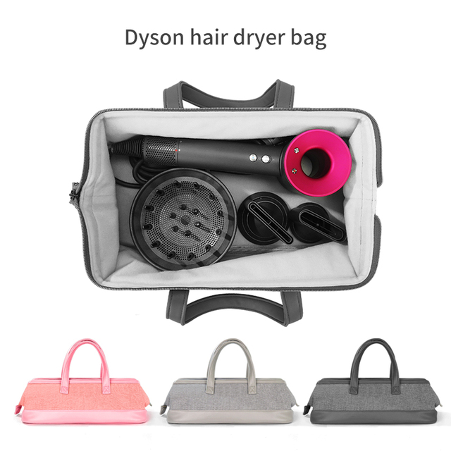 Liboer dyson secador de cabelo saco grande capacidade saco de armazenamento com alça para dyson secador de cabelo portátil caso transporte dustproof organizador