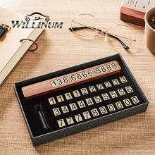 Car temporary parking card walnut plate sucker phone number for auto stop sign notice telephone car styling