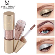 MISS ROSE 2019 Fashion Hot Metal Eyeshadow Shimmer Waterproof Shine Single Eye Shadow Liquid Nude Makeup тени для в