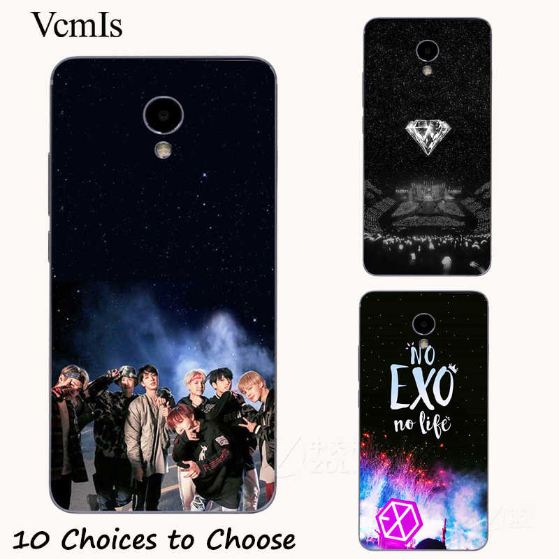 EXO k-pop collage silicone Painting Case For meizu M6T M3 M3s Note 8 9 C9 Pro 16/16th Mobile Phone Printed Cover