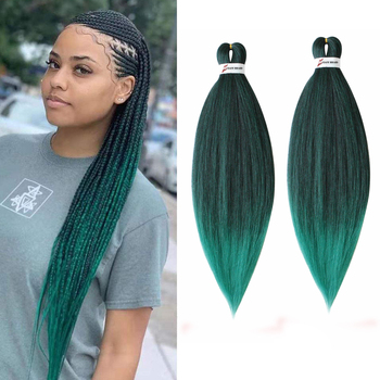 Pre Stretched Ombre Braiding Hair Easy Jumbo Braids Synthetic Crochet Braid Extensions - discount item  30% OFF Synthetic Hair