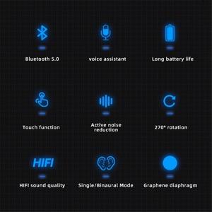 Image 4 - Kebidu سماعة رأس لاسلكية تعمل باللمس وبلوتوث 5.0 ، سماعة رأس HIFI أحادية ، سماعة رأس مقاومة للماء مع ميكروفون عالي الدقة للمكالمات ، لأجهزة iPhone