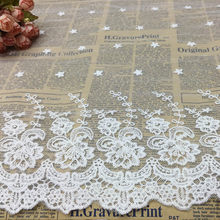 Pearl White Water-soluble Mesh Cloth Lace Garment Sewing Material DIY Handicraft Width 40 cm