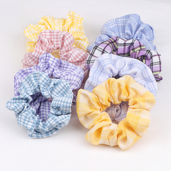 Print Elastic Scrunchie Women Hair Bands Elegant Satin Scrunchies Girls Ties Accessories