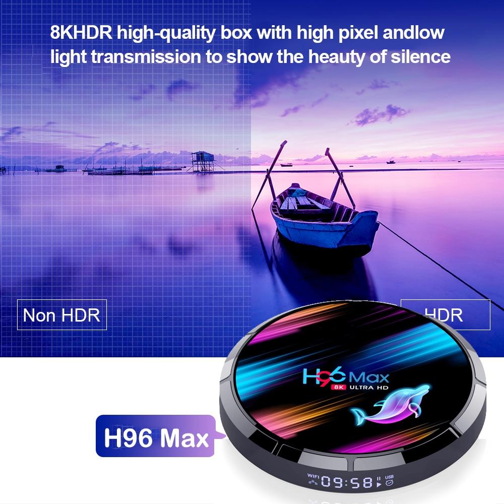 H96 MAX X3 Android 9.0 Smart TV Box 4GB 128GB Amlogic S905X3 2.4G/5G Wifi BT4.0 1000M 8K Media Google Play Andorid Box