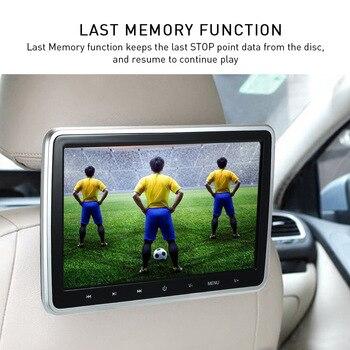 شاشة لمس رقمية مقاس 10.1 بوصة تعمل باللمس على قرص السيارة - مشغل أقراص DVD - توصيل وتشغيل - المقعد الخلفي - الترفيه متعدد اللغات - مشغل 2