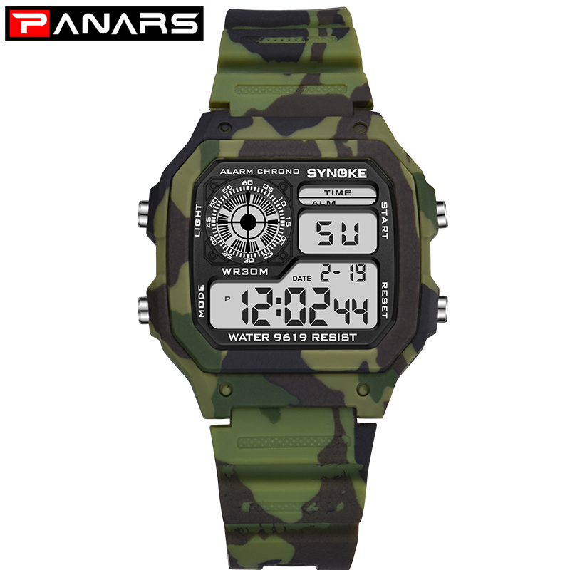 Camouflage Military Kids Watch Children's Watch Digitally Waterproof Colorful Luminous Dial Alarm Clock Watches Montre Enfant