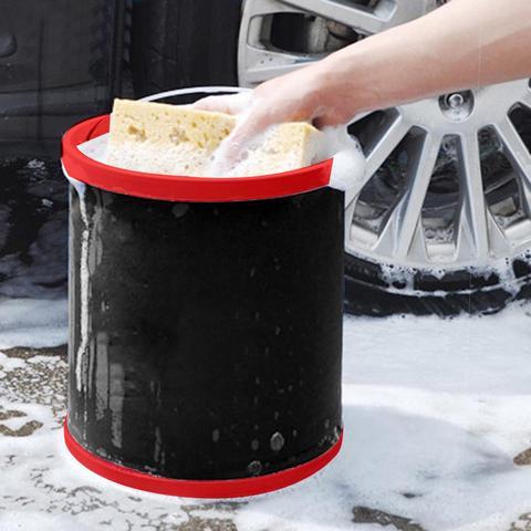 12l lavagem de carro grande balde dobravel saco de armazenamento em casa multi funcao balde