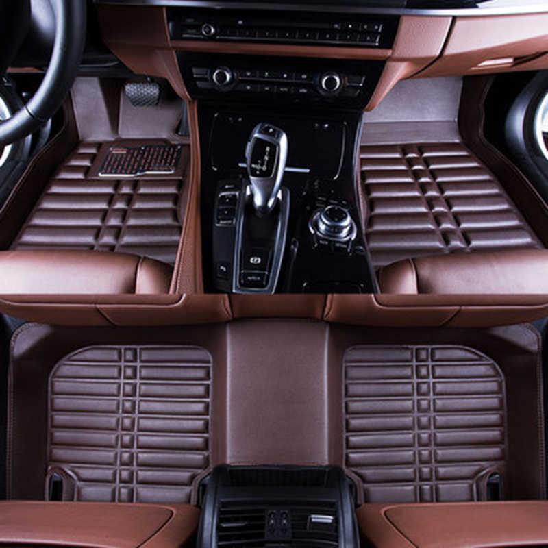 רכב מחצלות 3D Waterproof אישית רכב רצפת מחצלות מול & אחורי FloorLiner סטיילינג אוטומטי שטיח מחצלת עבור הונדה סיוויק 2016 2017 2018 2019