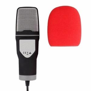 Image 4 - Neue Mikrofon 3,5mm Audio Wired Stereo Kondensator Mikrofon Mit Halter Ständer Clip Für PC Chatten Gesang Karaoke Laptop Mic