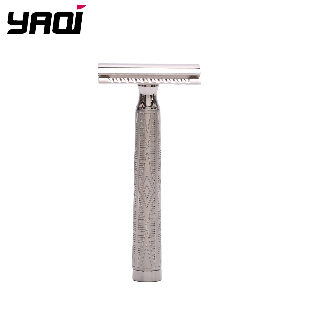 Yaqi Nickle Color Safety Razor With Flipside Head