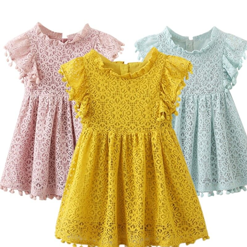 2020 Dress For Girls Summer Casual Wear Kids Beach Dress Princess Dress Wedding Birthday Party Girl Clothing Vestidos Robe Fille