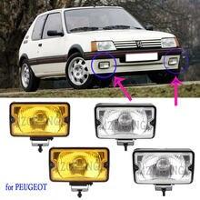 Luz de nevoeiro da frente spotlamp luz de condução para peugeot 205 gti cti 106 306 mi16 h3 luzes nevoeiro halogéneo