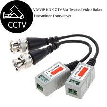 CCTV מצלמה פסיבי וידאו Balun BNC מחבר קואקסיאלי כבל מתאם עבור אבטחת CCTV אנלוגי מצלמה DVR מערכות