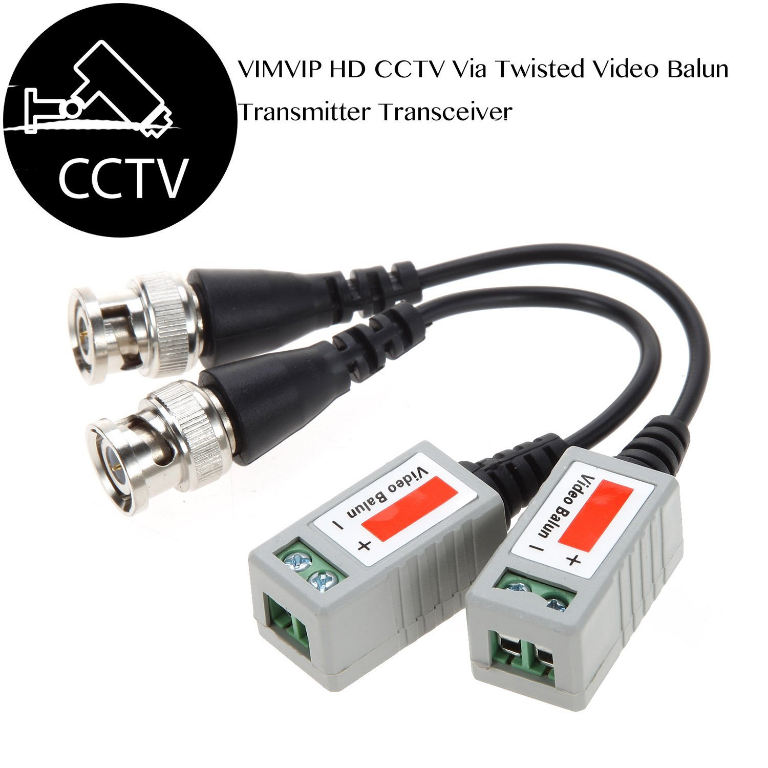 CCTV Camera Passive Video Balun BNC Connector Coaxial Cable Adapter For Security CCTV Analog Camera DVR Systems