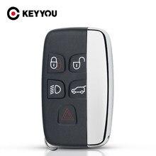 Keyyou chave do escudo para land rover ranger rover caso chave evoque discovery 4 freelander evoque 2010-15 fob remoto 5 botão caso logotipo