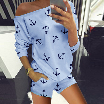 2020 New Hot Female Two-Piece Suit Autumn Summer Sweatsuits Sets Home Loose Fashion Casual Shorts Set