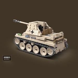 Image 5 - 608PCS German Weasel self anti tank gun Tank Building Blocks Assemble  WW2 Military Tank Army Soldier Weapon parts Bricks Toys