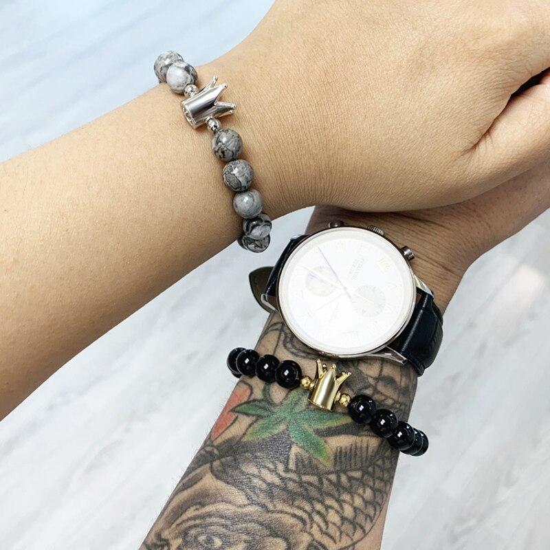 bracelets for women charm bracelet Attractive couples bracelets best friend bracelet charms mens bracelet Natural stone beads