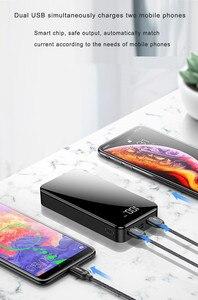 Image 5 - 20000 мАч Внешний аккумулятор 18650 повербанк 2 USB светодиодный внешний аккумулятор type c портативное зарядное устройство для мобильного телефона для iPhone Xiaomi