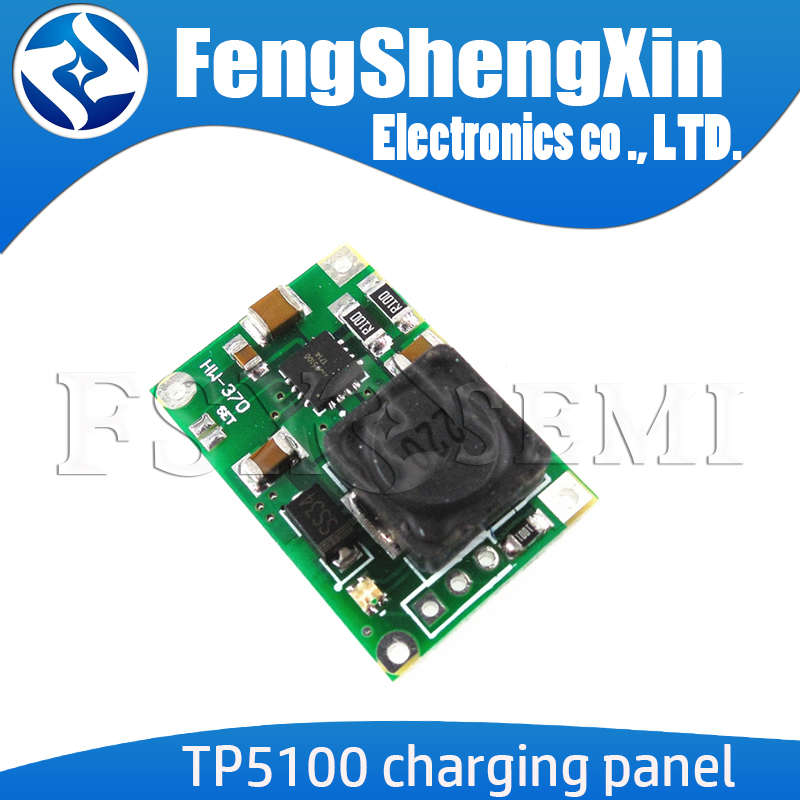 Новинка, двойное управление зарядкой литиевых батарей TP5100, совместима с перезаряжаемой литиевой пластиной 2A 18650 TP5100 4,2 V 8,4 V