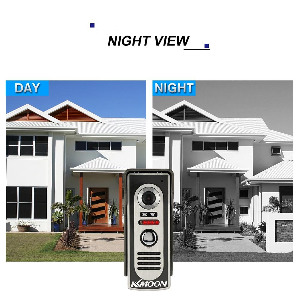 KKmoon 7'' TFT Waterproof Wired Door Intercom System With Camera and Speaker 3