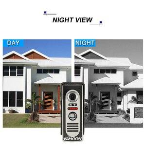 Image 4 - KKmoon видео домофон 7  TFT LCD Проводной Видео Телефон Двери Видео Видеодомофон Громкой Домофон С Водонепроницаемая Открытый ИК Камеры