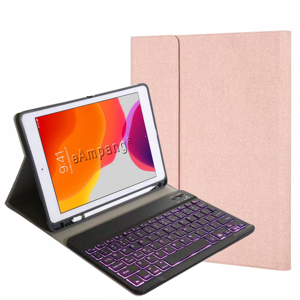 Slot Pen iPad Generation for 8th 7th 10.2 7 A2200 Backlit Case A2197 with Keyboard 2019