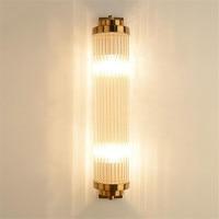 Golden Luxury Living Room Light Crystal Wall Lamp Steam Punk Wall Light Fixture Lustre Led Bathroom Light bedroom light
