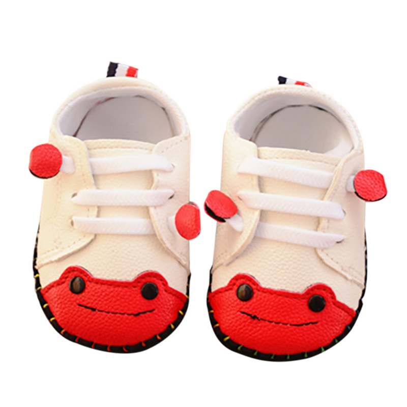 Newborn Infant Baby Shoes Boys First Walkers Small Frog Sewing Bag Toddler Shoes Rubber Sole Baby Shoes 6-18M