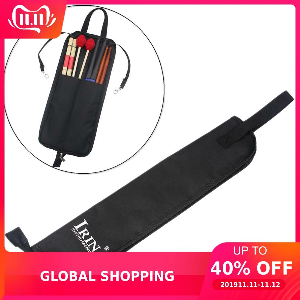 IRIN Drum Stick Gig Bag Waterproof Oxford Cloth Drumsticks Case Holder With Handy Strap Percussion Instruments Parts Accessories