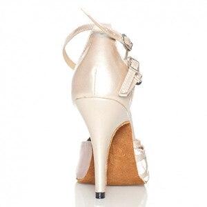 Image 5 - Groothandel Retail Salsa Schoen Koe Suede Hoge Hak Bruiloft Schoenen Zwart Naakt Grijs Kleurrijke Vrouwen Satijn Latin Ballroom Dans schoenen