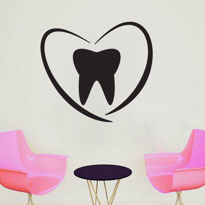 WJWY Dentist Smile Wall Sticker Dental Clinic Window Wall Decal Teeth Clinic Decoration Wallpaper Art Murals