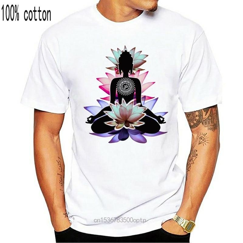 Женская белая футболка из мультфильма «Холодное сердце» Будда Цветок лотоса и медитации Йога C28 20|Футболки| | АлиЭкспресс